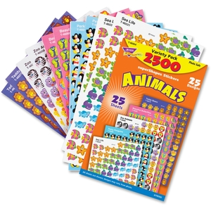 QUALITY PARK PRODUCTS 46904 Stickers, Animals, Variety Pack, 2500 Ea/Pk, Mi by Trend