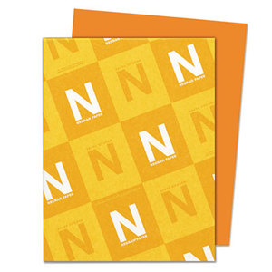 Neenah Paper, Inc 22761 Astrobrights Colored Card Stock, 65 lb., 8-1/2 x 11, Orbit Orange, 250 Sheets by NEENAH PAPER