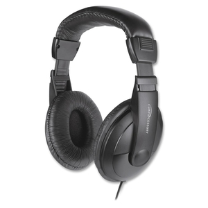 """Compucessory 15155 Stereo Headphones w/Volume Control, 71"""" Cord, Black by Compucessory"""