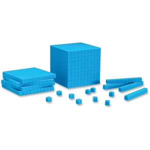 LEARNING RESOURCES/ED.INSIGHTS LER0930 LEARNING RESOURCES LER0930 BASE TEN STARTER SET PLASTIC BLUE-100 UNITS 30 RODS 10 FLATS 1 CUBE by Learning Resources