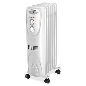 """Lorell Furniture 29552 Oil Filled Heater,3 Settings,1500W,14-1/16""""x9-2/3""""x26"""",WE by Lorell"""