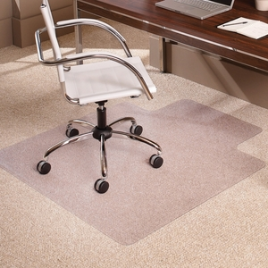 "Carpet Chairmat, Lip, 46""x60"", Clear by ES Robbins"