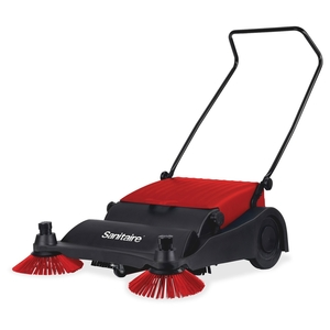 """Vacuum Sweeper, 32"""" Wide, 37""""x32""""x16"""", Red/Black by Sanitaire"""