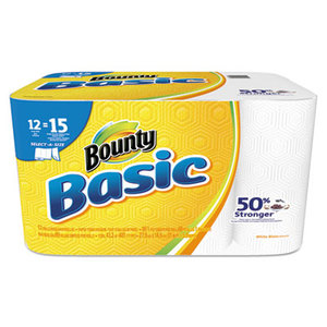 Procter & Gamble 92972 Basic Select-a-Size Paper Towels, 5 9/10 x 11, 1-Ply, 89/Roll, 12 Roll/Pack by PROCTER & GAMBLE