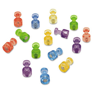 Quartet MPPC Magnetic Push Pins for Magnetic Planning Boards, Assorted Colors, 20/Pack by QUARTET MFG.