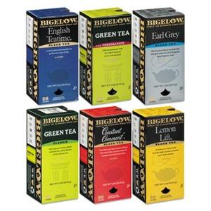 BIGELOW TEA CO. 577 Assorted Tea Packs, Six Flavors, 28/Box, 168/Carton by BIGELOW TEA CO.