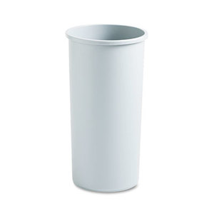 RUBBERMAID COMMERCIAL PROD. FG354600GRAY Untouchable Waste Container, Round, Plastic, 22gal, Gray by RUBBERMAID COMMERCIAL PROD.