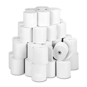 """PM Company, LLC 5479 Paper Rolls, One Ply Teller Window/Financial, 3"""" x 150 ft, White, 50/Carton by PM COMPANY"""
