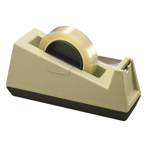 """3M C25 Heavy-Duty Weighted Desktop Tape Dispenser, 3"""" Core, Plastic, Putty/Brown by 3M/COMMERCIAL TAPE DIV."""