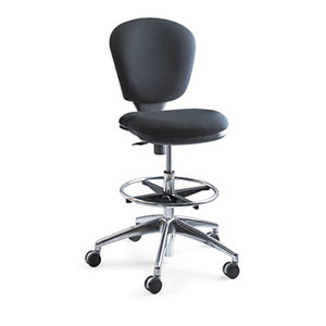 "Safco Products 3442BL Metro Collection Extended Height Swivel/Tilt Chair, 22-33"" Seat Height, Black by SAFCO PRODUCTS"