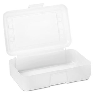 Advantus Corporation AVT-34104 Gem Polypropylene Pencil Box with Lid, Clear, 8 1/2 x 5 1/2 x 2 1/2 by ADVANTUS CORPORATION