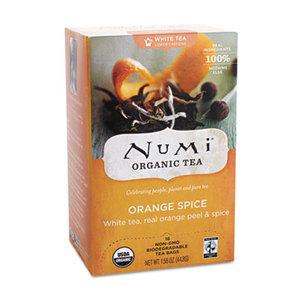 Numi, LLC 10240 Organic Teas and Teasans, 1.58oz, White Orange Spice, 16/Box by NUMI