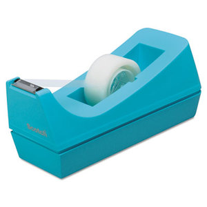 """3M C38B Desktop Tape Dispenser, 1"""" Core, Weighted Non-Skid Base, Blue by 3M/COMMERCIAL TAPE DIV."""
