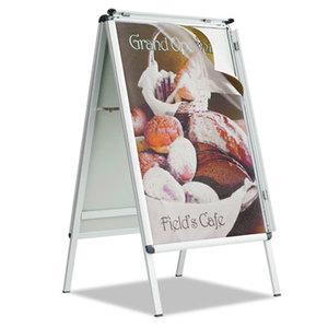 Quartet AF32 A-Frame Sign, Aluminum, 28 1/2 x 42, Silver by QUARTET MFG.