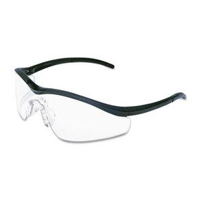 MCR Safety T1110AF Triwear Onyx Frame, Clear AntiFog Lens, Black Cord by MCR SAFETY