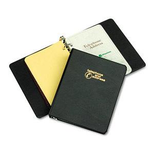 "ACCO Brands Corporation W812B Looseleaf Phone/Address Book, 1"" Capacity, 5-1/2 x 8-1/2, Black Vinyl by WILSON JONES CO."