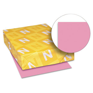 Neenah Paper, Inc 21041 Astrobrights Colored Card Stock, 65 lb., 8-1/2 x 11, Pulsar Pink, 250 Sheets by NEENAH PAPER