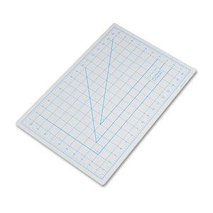 "Self-Healing Cutting Mat, Nonslip Bottom, 1"" Grid, 12 x 18, Gray by HUNT MFG."