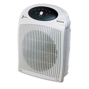 1500W Heater Fan w/ALCI Heater, Plastic Case, 10 1/4 x 6 1/2 x 12 1/2, White by HOLMES PRODUCTS