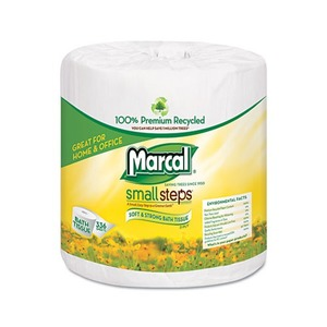 PACKAGING DYNAMICS 6079 100% Recycled Two-Ply Embossed Toilet Tissue, White, 48 Rolls/Carton by MARCAL MANUFACTURING, LLC