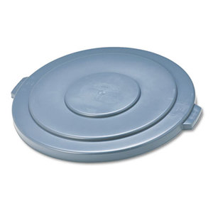 """Round Flat Top Lid, for 55-Gallon Round Brute Containers, 26 3/4"""", dia., Gray by RUBBERMAID COMMERCIAL PROD."""