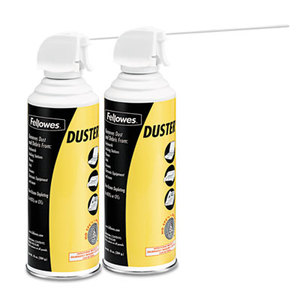 Fellowes, Inc 9963201 Air Duster, 152A Liquefied Gas, 10oz Can, Two Per Pack by FELLOWES MFG. CO.