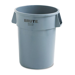 RUBBERMAID COMMERCIAL PROD. 264300 Round Brute Container, Plastic, 44 gal, Gray by RUBBERMAID COMMERCIAL PROD.