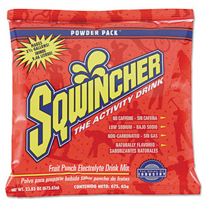 SQWINCHER CORP 690-016042-FP Powder Concentrate Electrolyte Drink Packet, Fruit Punch, 23.83oz, 32/Carton by SQWINCHER CORP