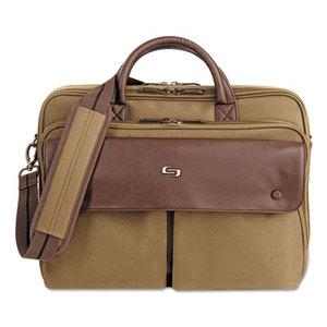 "UNITED STATES LUGGAGE VTA330-11 Executive Briefcase, 15.6"", 15 1/2 x 1 7/8 x 15 1/4, Khaki/Brown by UNITED STATES LUGGAGE"