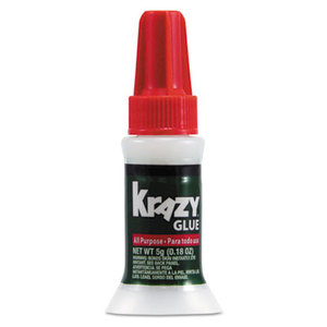 ELMER'S PRODUCTS, INC KG92548R All Purpose Brush-On Krazy Glue, .17oz, Clear by ELMER'S PRODUCTS, INC.