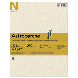 Neenah Paper, Inc 27428 Astroparche Specialty Card Stock, 65 lbs., 8-1/2 x 11, Natural, 250 Sheets/Pack by NEENAH PAPER
