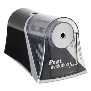 ACME UNITED CORPORATION 15510 Evolution Axis Pencil Sharpener, Black/Silver, 4 1/4 w x 7d x 4 3/4h by ACME UNITED CORPORATION