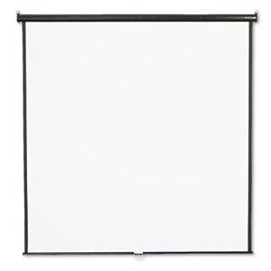 Quartet 684S Wall or Ceiling Projection Screen, 84 x 84, White Matte, Black Matte Casing by QUARTET MFG.