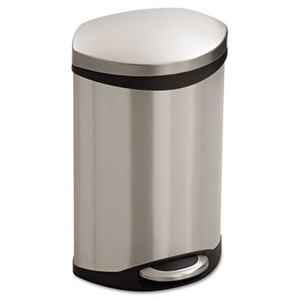 Safco Products 9901SS Step-On Medical Receptacle, 3gal, Stainless Steel by SAFCO PRODUCTS
