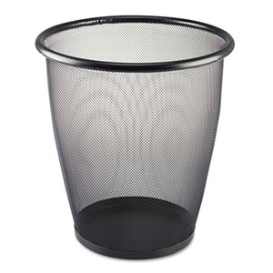 Safco Products 9717BL Onyx Round Mesh Wastebasket, Steel Mesh, 5gal, Black by SAFCO PRODUCTS