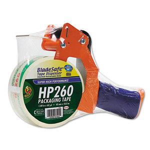 "Shurtech Brands, LLC 1078566 Bladesafe Antimicrobial Tape Gun w/Tape, 3"" Core, Metal/Plastic, Orange by SHURTECH"