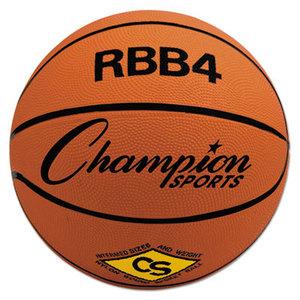 CHAMPION SPORTS RBB4 Rubber Sports Ball, For Basketball, No. 6, Intermediate Size, Orange by CHAMPION SPORT
