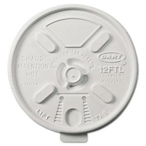 Vented Foam Lids for 10-14 oz Foam Cups, Lift n' Lock Lid by DART