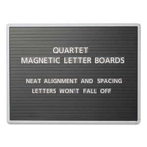 Magnetic Wall Mount Letter Board, 36 x 24, Black, Gray Aluminum Frame by QUARTET MFG.