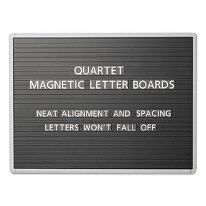 Quartet 903M Magnetic Wall Mount Letter Board, 36 x 24, Black, Gray Aluminum Frame by QUARTET MFG.