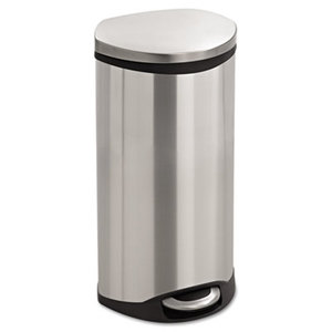 Safco Products 9902SS Step-On Medical Receptacle, 7.5gal, Stainless Steel by SAFCO PRODUCTS