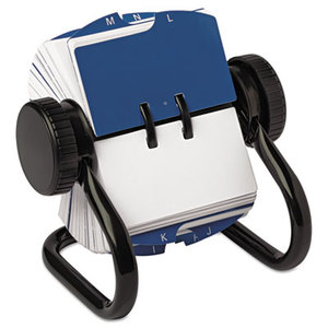 ROLODEX 66700 Open Rotary Card File Holds 250 1 3/4 x 3 1/4 Cards, Black by ROLODEX