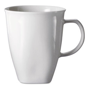 Chef's Table Fine Porcelain Coffee Mugs, 16oz, White, 8/Box by OFFICE SETTINGS