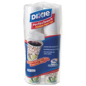 Combo Bag, Paper Hot Cups, 10oz, 50/Pack by DIXIE FOOD SERVICE
