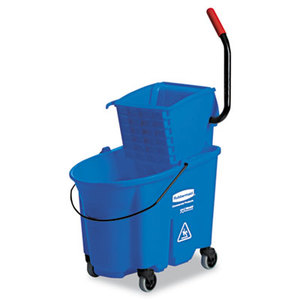 RUBBERMAID COMMERCIAL PROD. RCP 7588-88 BLU WaveBrake Side-Press Wringer/Bucket Combo, 8.75gal, Blue by RUBBERMAID COMMERCIAL PROD.