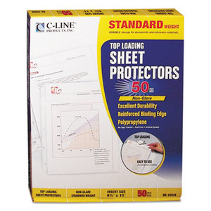 "C-Line Products, Inc 62038 Standard Weight Polypropylene Sheet Protector, Non-Glare, 2"", 11 x 8 1/2, 50/BX by C-LINE PRODUCTS, INC"