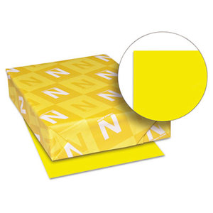Neenah Paper, Inc 22731 Astrobrights Colored Card Stock, 65 lb., 8-1/2 x 11, Solar Yellow, 250 Sheets by NEENAH PAPER