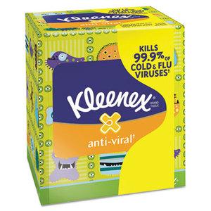 Kimberly-Clark Corporation 35551 Anti-Viral Facial Tissue, 3-Ply, White, 68 Sheets/Box by KIMBERLY CLARK