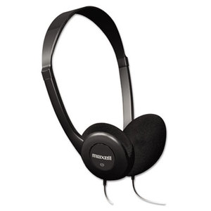 Maxell 190319 HP-100 Headphones, Black by MAXELL CORP. OF AMERICA