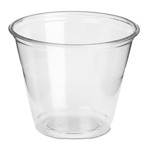 Clear Plastic PETE Cups, Cold, 9oz, Regular Size, 50/Pack, 20 Packs/Carton by DIXIE FOOD SERVICE
